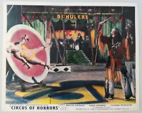 "ORIGINAL 1960 LOBBY CARD 10"" x 8"" - ""CIRCUS OF HORRORS"" - DONALD PLEASENCE"