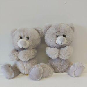 2  Paws Grey teddy bear soft toy  plus