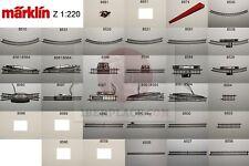 Z 1:220 Märklin mini-club escala vias de segundamano en buen estado