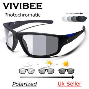 Polarized Cycling Sunglasses photochromatic sports fishing sunglasses UV 400