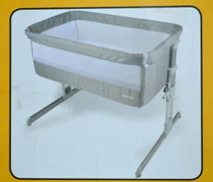 Safety 1st Beistellbett Calidoo, höhenverstellbares Beistellbettchen, grau,