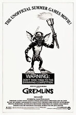 """Poster Gremlins 1984 27""""x41"""" VF+ 8.5 Olympic Style"""