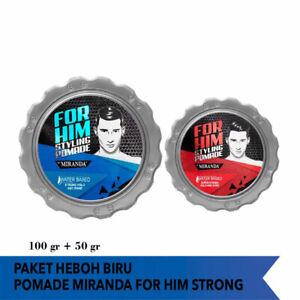 [MIRANDA] Set Water Based Hair Pomade for Men Strong 100g + Super Strong 50g