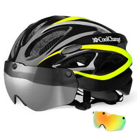 EPS Insect Net Road MTB Bike Bicycle Cycling Helmet with Windproof Lenses Yellow