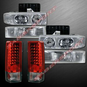 Combo Headlights + Park Signal Lamps + LED Taillights for 1995-2005 Astro Van