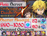 [INSTANT][ASIA] 990+Diamonds Seven Deadly SIns Grand Cross Starter Account 7DS