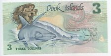 "GB245 - Banknote Cook Islands 3 Dollar 1987 Pick#3 UNC ""Naked Ina on Shark"""