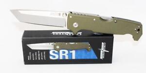 Cold Steel SR1 Tanto Point Pocket Knife OD Green G10 Handle S35VN Steel 62LA