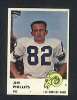 1961 Fleer #102 Jim Phillips NM/NM+ LA Rams 107424