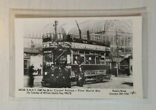 S.M.E.T. CAR NUMBER 26 AT CRYSTAL PALACE FIRST WORLD WAR TRAM POSTCARD