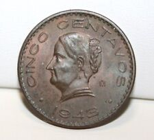 1943 Mo Mexico Cinco 5 Centavos Coin KM 424 Toning