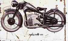 Zundapp K800 1933 Aged Vintage SIGN A4 Retro