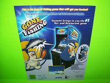 JVL Corp Tsunami Gone Fishing Original NOS Video Arcade Game Promo Sales Flyer