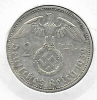 Rare WWII German 1939 SILVER Reichsmark Eagle Great War Collection Coin LOT T58