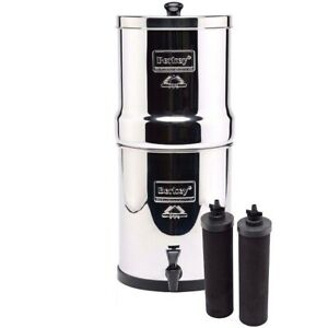 Royal Berkey Water Filter Purification System 2 Black Filters FREE Shipping New