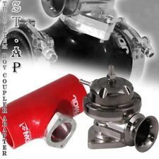 "Turbo Blow Off Valve Bov Type Rs Gunmetal 2.5"" Reinforce Silicone Adapter Red"