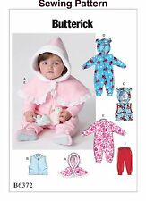 Butterick B6372 PATTERN - Infants Cape,Vest, Buntings & Pants - Size Nb-XL