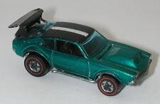 Redline Hotwheels Aqua Black Roof 1970 Mighty Maverick oc16375