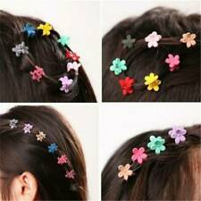 30 PCS Plastic Kids Baby Mini Claw Girls Hairpins Flower Hair Clips Clamp Cute