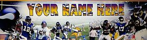 "FREE ""SPORTS"" (#446) MINNESOTA VICKINGS"", PERSONALIZED POSTER /BANNER  30X8.5"""