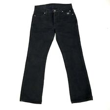 Harley Davidson Womens Boot Cut Black Jeans Size 8 Mid Rise 30 inseam