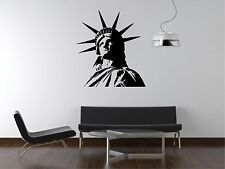 Statue of Liberty Silhouette Wall Decal Family Living Dining Room PS07lw