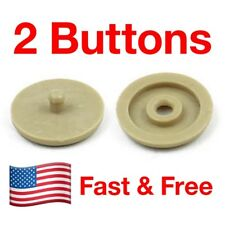 SNAPS ON! – 2 Seat Belt Button Buckle Stop - Universal Fit Stopper Kit in Tan