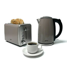 Igenix IGPK24 2 Slice Toaster & 1.7L Jug Kettle - Breakfast Set, Grey