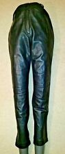 Betty Barclay Black Real Half leather trousers s uk12d38f40us8 Waist w27in w69cm