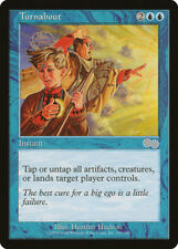 MTG X1: Turnabout, Urza's Saga, U, Moderate Play - FREE US SHIPPING!
