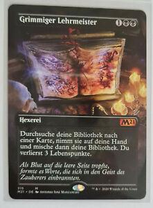 1x Grimmiger Lehrmeister Hauptset 2021- Mystic Rare- Full Art - MTG -        New