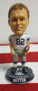 DALLAS COWBOYS JASON WITTEN BOBBLEHEAD BY FOREVER COLLECTIBLES NIB NFL FOOTBALL