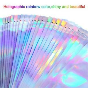20 Holographic Rainbow Laser Double-Sided Small Mylar Foil Sealable Bags 3-Sizes