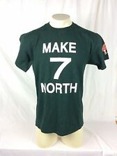 Vintage 7 Up Make Seven North Up Yours Green Mens Medium T Shirt Soda Pop Art