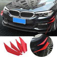 4pcs/set Red JDM Spoiler Canards Valence Chin Bumper Lip Diffuser Splitter Fins