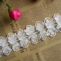 1yd Vintage Flower Lace Edge Trim Wedding Dress Ribbon Applique DIY Sewing Craft