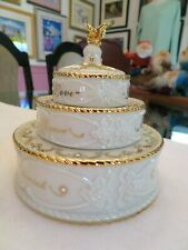 Lenox Triple Candle Holder Stackable - Tiered Wedding Cake - Love Honor Respect