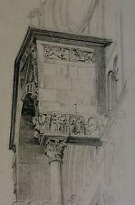 Dessin 1927 verona san zeno maggiore par Braunwald Architecte Italie