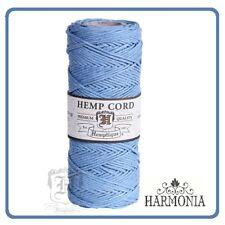 HEMPTIQUE 100% Pure  HEMP CORD SPOOLS  1mm Cord 62.5m spool  LIGHT BLUE