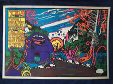 VINTAGE Yea I Walk Through The Valley Of Death Black Light Poster-1971