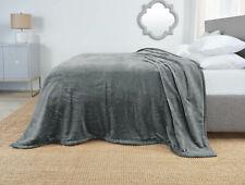Reversible Faux Fur Blanket Ultra Soft Cozy Warm Fleece Bed Blanket Ming Feel