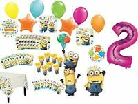 Despicable Me Minions 2nd Birthday Party Supplies 8 Guest Table Decorations a...