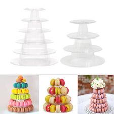 Cupcake Stand Macaron Cake Food Platter Round Display Party 2pcs