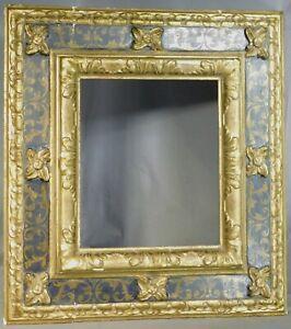 Vintage Carve Gilt Wood BLACK Baroque Picture Frame Cassetta 13x11 Museum Mirror