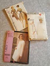 Lot of 3 Vintage Dress Patterns Designer ~ MMA Jane & Jane Simplicity Sz 11 & 12