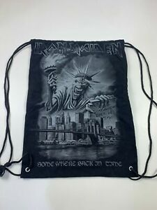 WOMENS MENS IRON MAIDEN SOMEWHERE BACK IN TIME 2008 CANVAS DRAWSTING SACK BAG