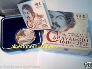 10 euro Italia 2010 Ag Fs BE PP proof CARAVAGGIO Italie Italy Italien Италия