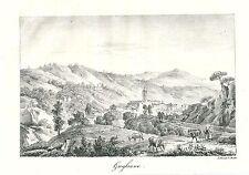1824 GUGLIANO Quiliano Savona rara litografia Charles Motte Chabrol de Volvic