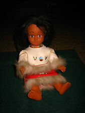 """VINTAGE INDIAN GIRL DOLL~ FROM THE 60'S~APPROX. 11""""~BODY IS PLASTIC FACE RUBBER"""