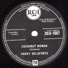 COCOANUT WOMAN / ISLAND IN THE SUN 78 CLASSIC HARRY BELAFONTE calypso RCA 1007 E